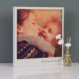 Personalised Vintage Polaroid Mothers Day Canvas - people & portraits