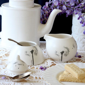 Botanical Cream Jugs And Sugar Bowls