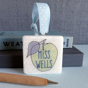 Personalised Teacher Apple Decoration - card alternatives