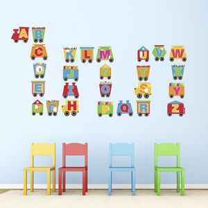 Train Alphabet Wall Stickers - baby's room