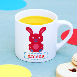 Personalised Rabbit Children's Mug - kitchen