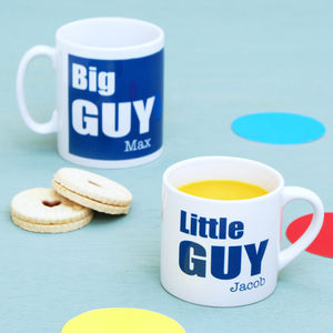 Personalised Daddy And Me 'Big Guy' Mug Set - mugs