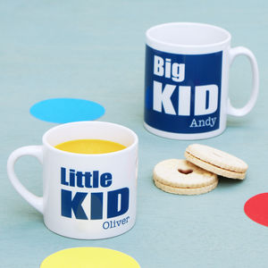 Personalised Daddy And Me 'Big Kid' Mug Set