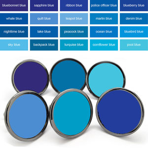 Blue Colourful Cupboard Door Knobs