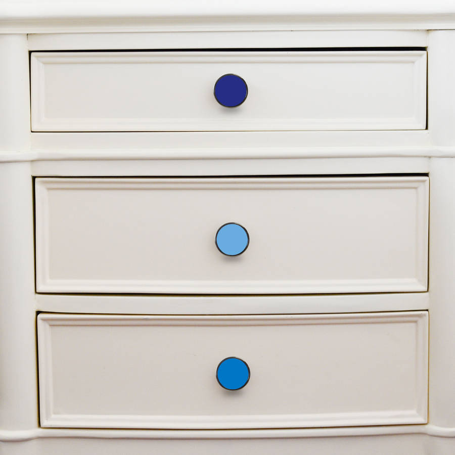 Blue Colourful Cupboard Door Knobs By Pushka Home
