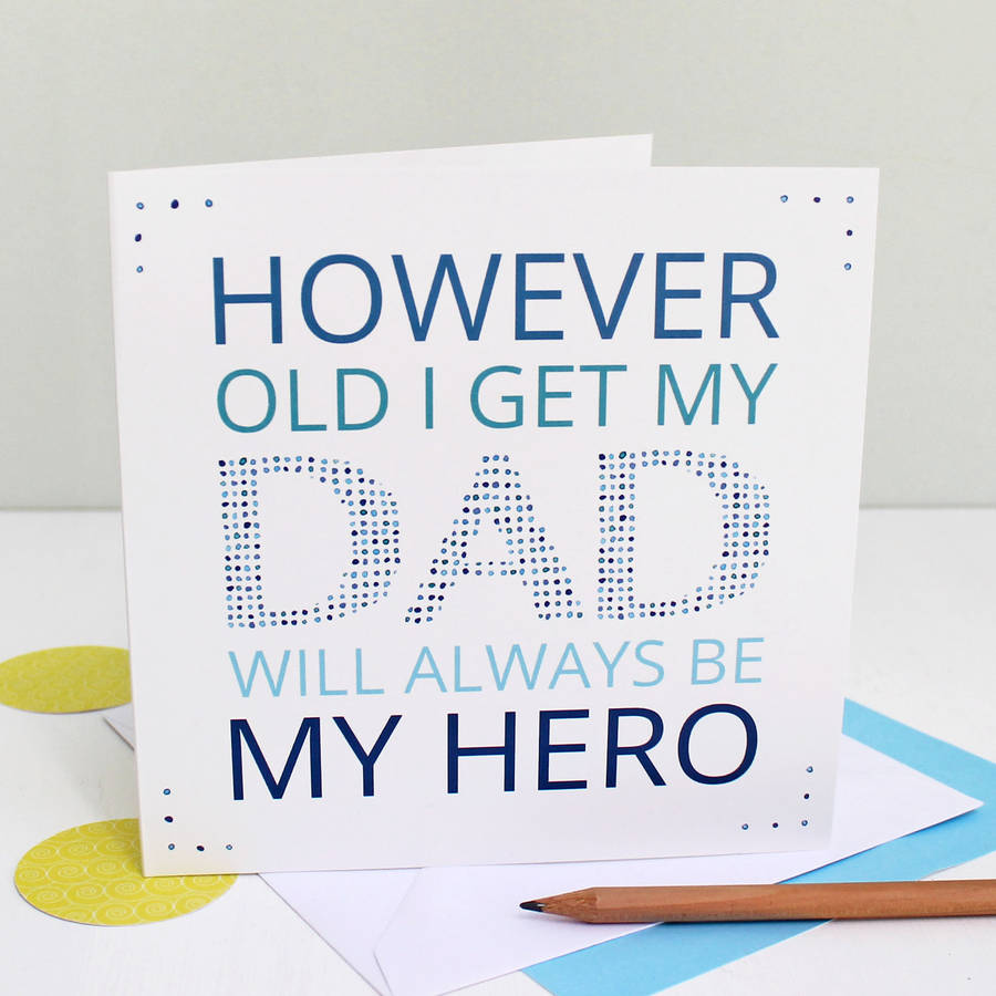 'My Dad My Hero' Greeting Card