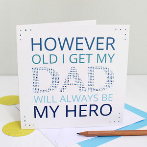 'My Dad My Hero' Greeting Card - father's day cards