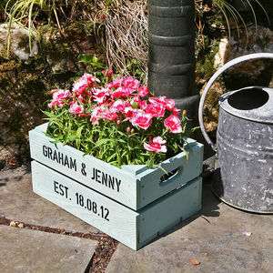 Personalised Small Planter Crate - gardening
