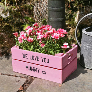 Personalised Small Planter Crate - 70th birthday gifts