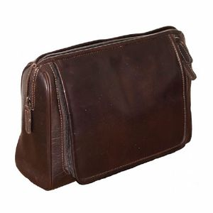 Personalised Hanging Leather Washbag - wash & toiletry bags