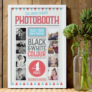 Personalised Family Photo Booth Print