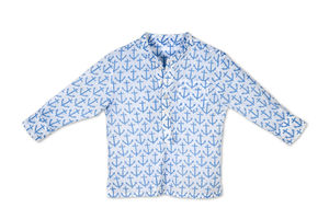 Mini Boy's Band Collared Shirt - shirts & blouses