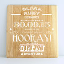 Personalised New Baby Wooden Print