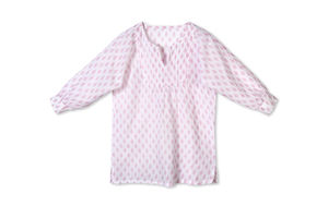 Mini Girls Pintuck Blouse Floral Pink
