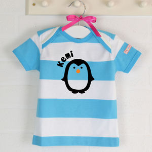 Personalised Short Sleeve Tshirt Penguin