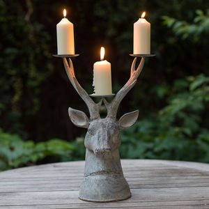 Grand Stag Head Candle Holder - candles & home fragrance