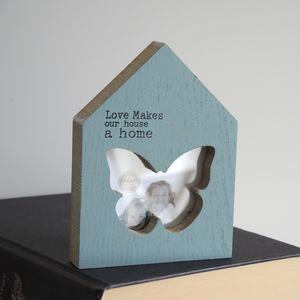 Duck Egg Blue House Photo Frame