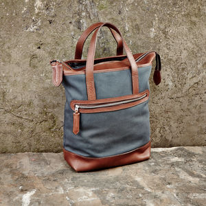 Canvas And Leather Tote - women's accessories