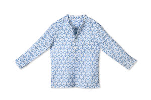 Little Band Collared Shirt Anchor Blue