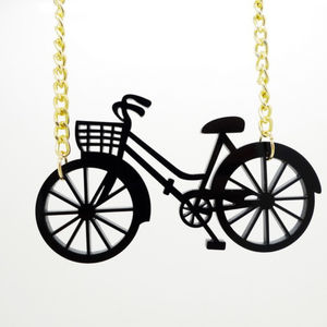 Perspex Bicycle Necklace - children's accessories