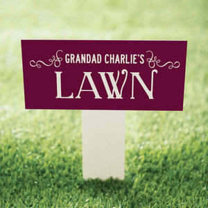 Personalised Garden Lawn Sign