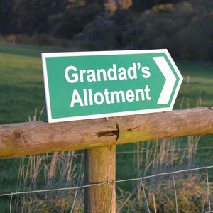 Personalised Directional Garden Sign