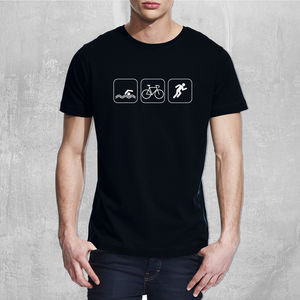 Mens Triathlon Cotton T Shirt - gifts for him sale
