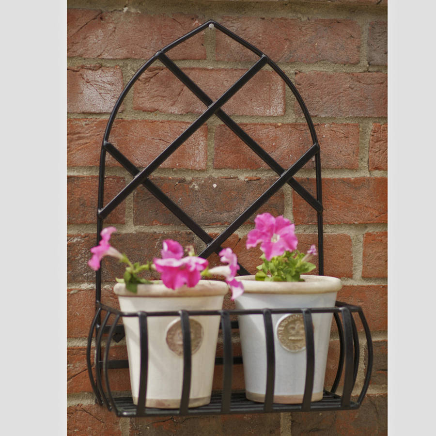 original_wrought iron wall planter