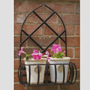 Gothic Garden Steel Wall Planter Made In Britain