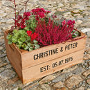 Personalised Crate - Ruby Wedding Anniversary