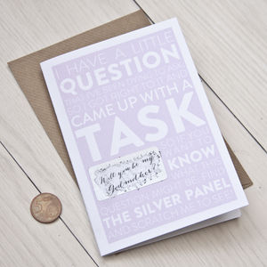 Scratch Off 'Will You Be My Godmother?' Card - christening invitations