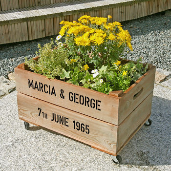 Personalised Crate - Golden Wedding Anniversary