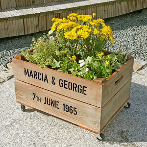 Personalised Crate - Golden Wedding Anniversary - personalised