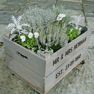 Personalised Crate - Silver Wedding Anniversary - shop by occasion