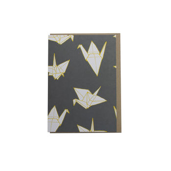 Origami Crane Greetings Card