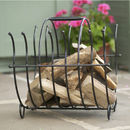 Steel Log Holder Basket Made In Britain