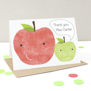 Personalised Thank You Teacher Card - thank you cards