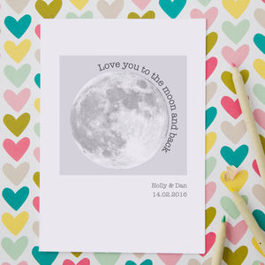 Personalised Moon Card - valentine's cards