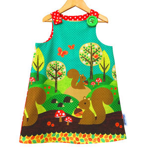 Jessie Pinafore Dress Furry Friends