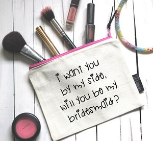 'Will You Be My Bridesmaid?' Pouch - be my bridesmaid?