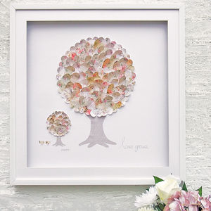 Framed 3D 'Love Grows' Family Tree Artwork - mixed media pictures for children