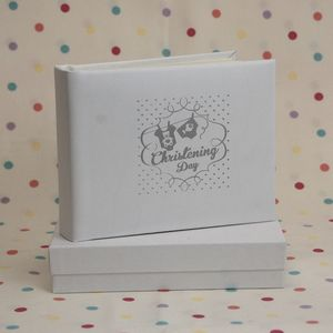 Leather Christening Album - christening gifts
