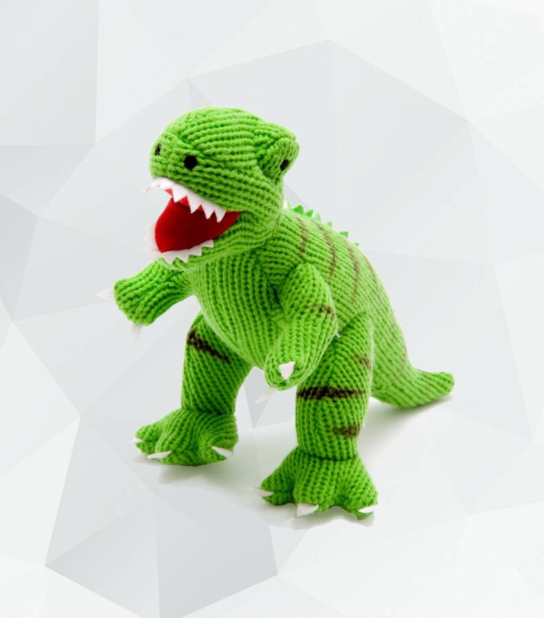 Baby Dinosaur Knitting Pattern : knitted baby dinosaur rattle by banks-lyon botanical notonthehighstreet.com