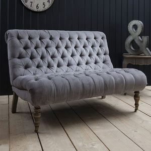 Laura Lyra Two Seater Grey