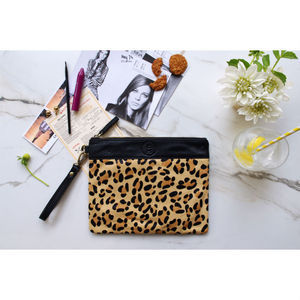 Mendez Leopard Clutch Bag