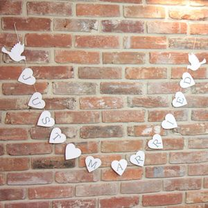 'Just Married' Dove Garland