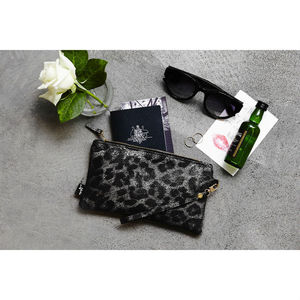 Garcia Leopard Clutch Purse - womens