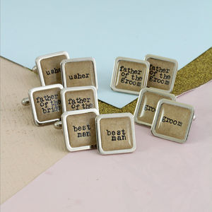 Personalised Wedding Party Cufflinks - cufflinks