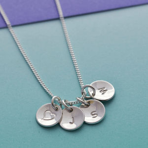 Sterling Silver Initial And Symbol Necklace - women's jewellery