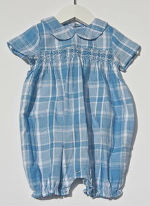 Hand Smocked Baby Romper Robbie - shop by price